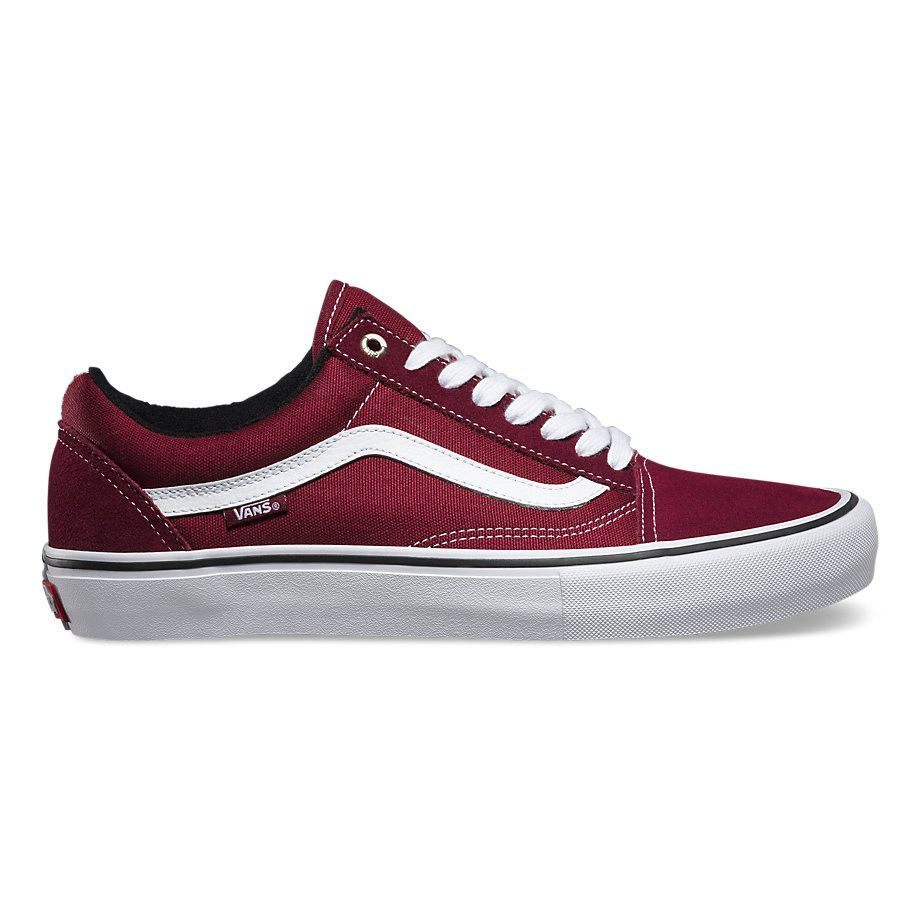 Vans Old Skool Pro portwhite | White vans shoes, Cheap vans