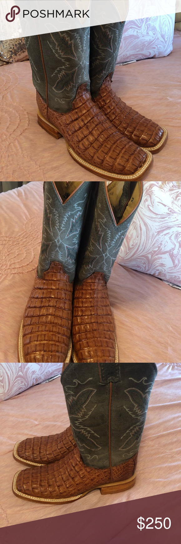 8166d810a0e Justin square toe caimán boots Used once for a de hour se. Size 6 ...