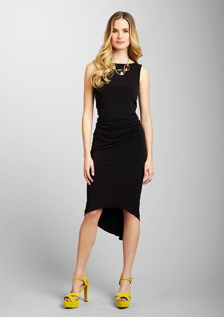 Black dressyellow shoe combo love mi estilo pinterest