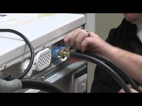 Connecting the Drain Hose and Inlet Hoses to your Washer - YouTube