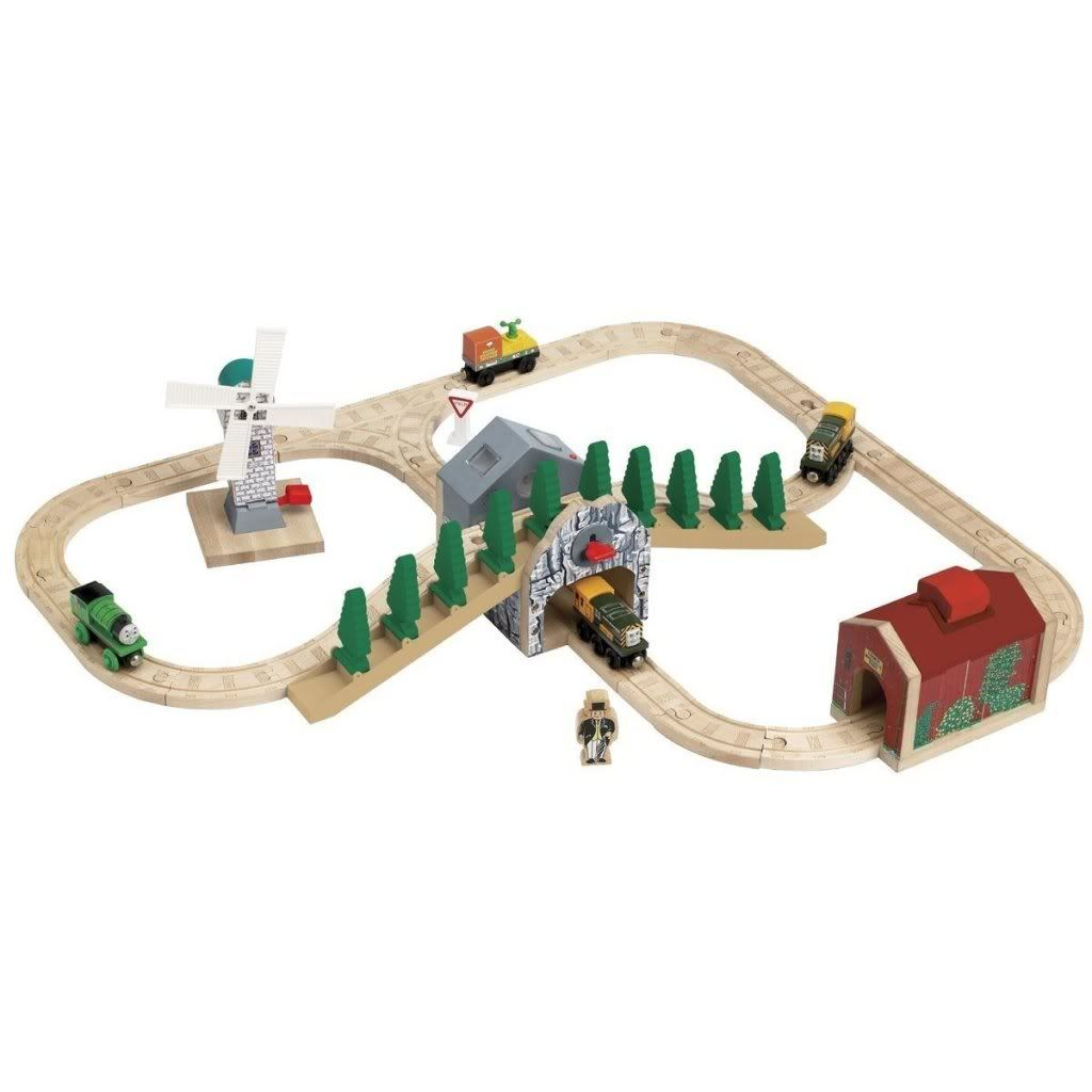 Thomas The Tank Engine Wooden Train Set Windmill Maccoll S Barn Mountain Shed Wooden Train Set Wooden Train Thomas The Tank Engine
