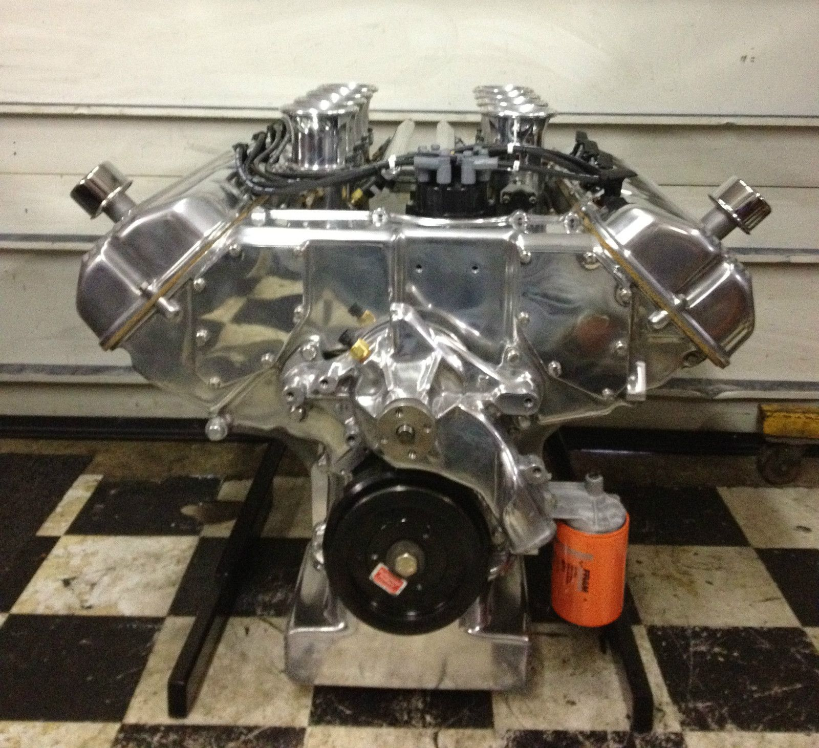 700 Hp Ford 427 Sohc I Polished Oil Pan Timing Cover Water Pump