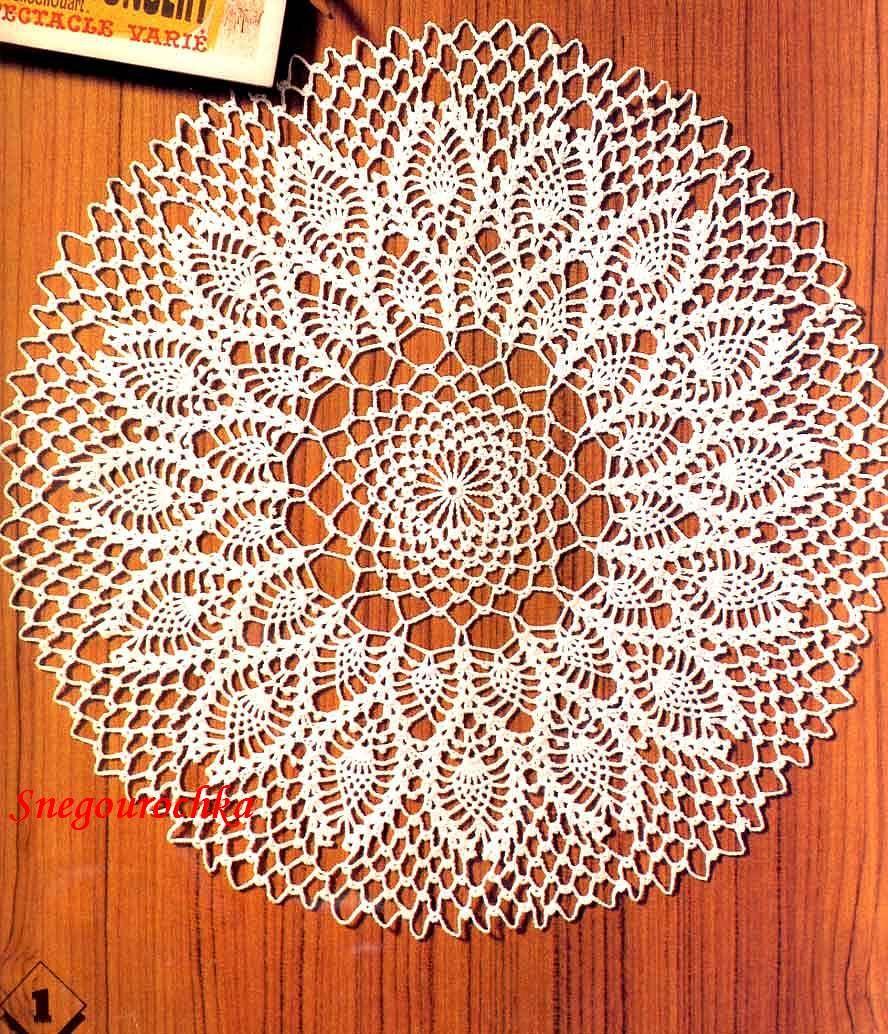 crochet pineapple doily pattern | Doileys | Pinterest | Pineapple ...