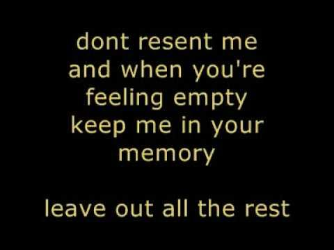 Leave Out The Rest Lyrics Leave Out All The Rest Linkin Park Lyrics Youtube Lyrics Quotes Thoughts And Feelings