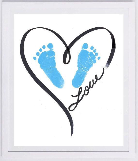 Love heart blue feet