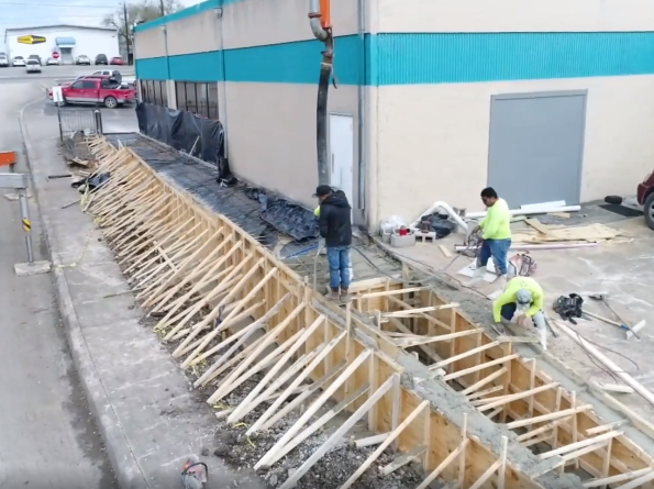 Commercial Concrete Contractor In San Antonio Tx Bankston Concrete Concrete Retaining Walls Concrete Design Concrete Contractor
