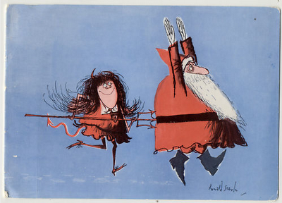 """The true """"Christmas Spirit"""" by Ronald Searle."""