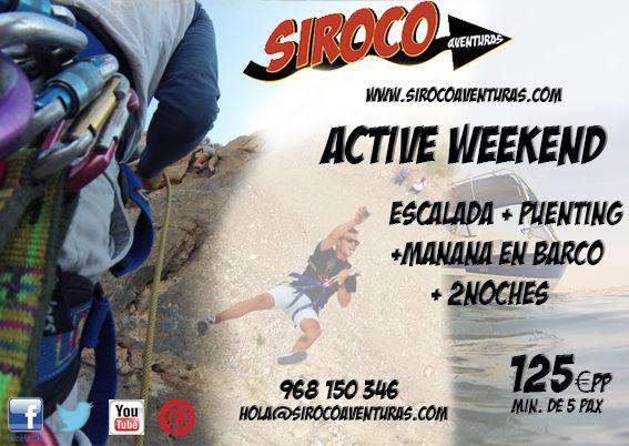 #Active Weekend en #La Region de Murcia con #Siroco Aventuras. #Turismo Activo,#escalada,#puenting