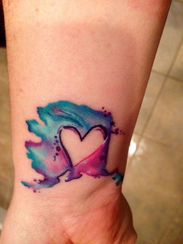 100 Watercolor Tattoos That Perfectly Replicate The Medium Purple Tattoos Awareness Ribbons Tattoo Small Watercolor Tattoo