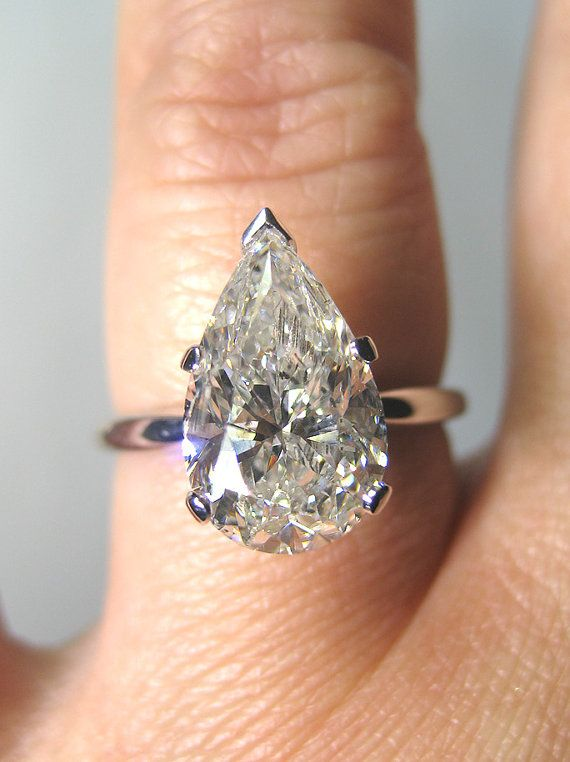 engagement cheap teardrop diamond shaped pear rings