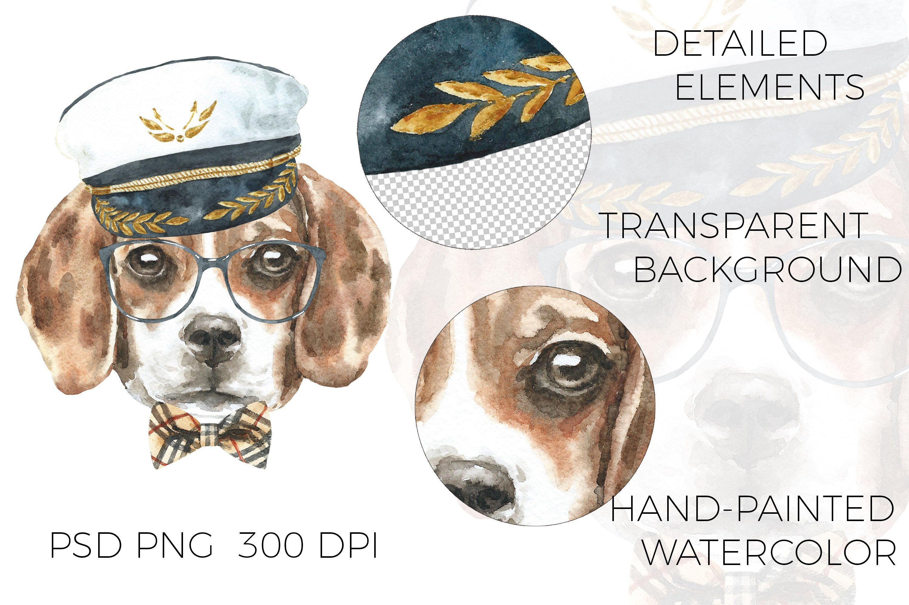 Watercolor Dog Clipart Watercolor Dog Breed Character Creator