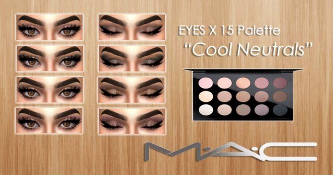 Eyes x 15 Palette in Cool Neutrals at MAC Cosimetics • Sims 4 Updates