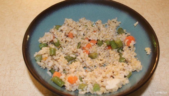 Recipe chicken rice and vegetable homemade dog food top dog tips recipe chicken rice and vegetable homemade dog food top dog tips forumfinder Choice Image