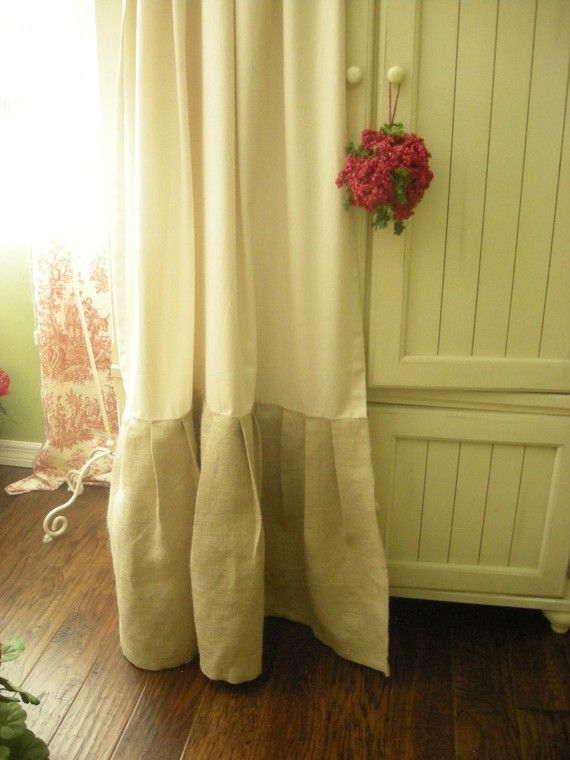 bedroom curtain idea if your curtains are too short add the burlap trim