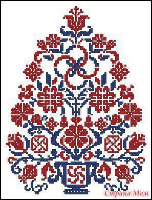 Схема вышивки крестом белочка на ветке - Семейный портал Мир 95