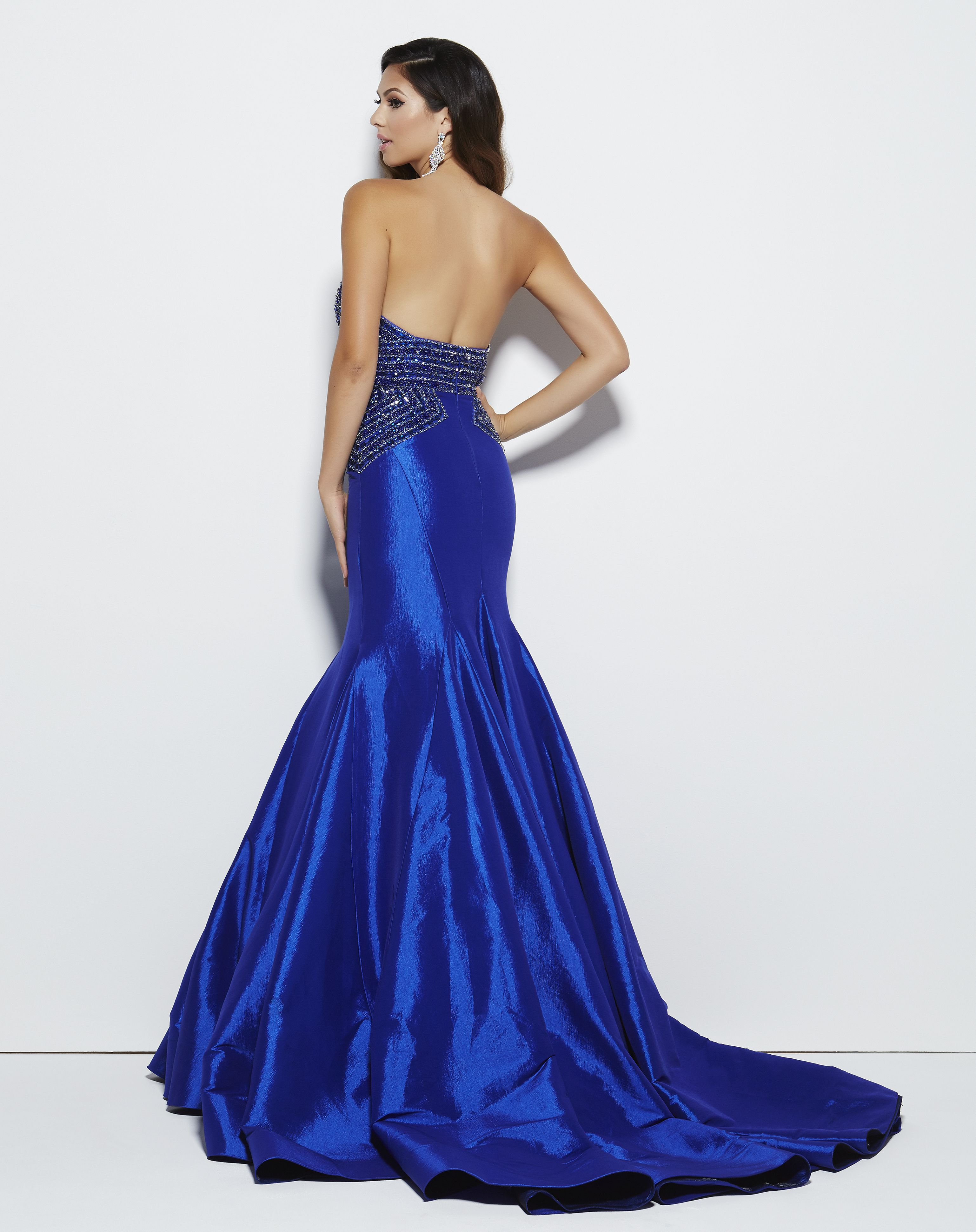 41eceb0e124b6 Talk about sweep train! This royal blue strapless Mac Duggal prom dress is  so cool. Style 62248M Royal