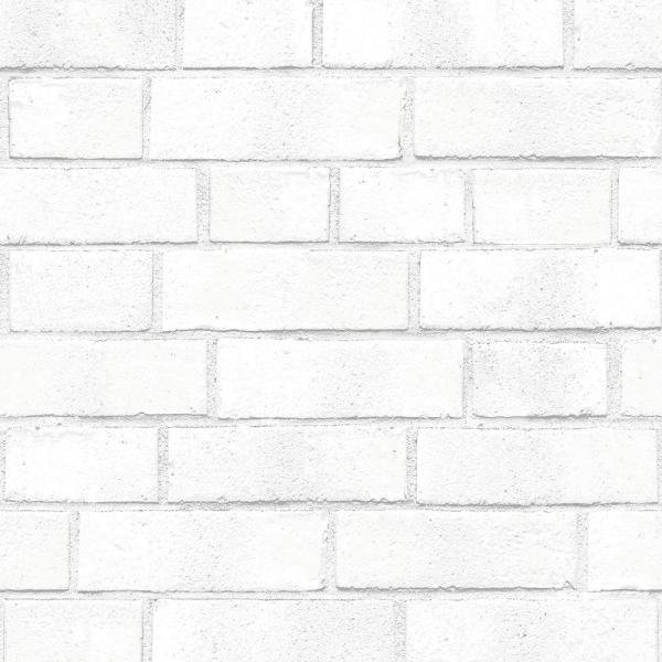 Tempaper Brick Vinyl Peelable Wallpaper Covers 28 Sq Ft Br556 The Home Depot White Brick Wallpaper Brick Wallpaper Removable Brick Wallpaper