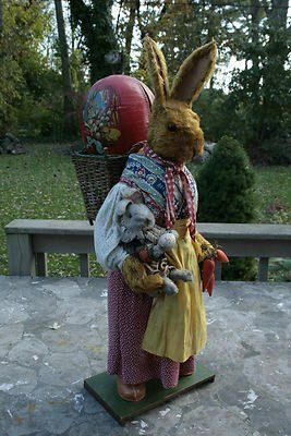 1930's German Easter Rabbit Candy Store Display 30 1/2 Inches Tall