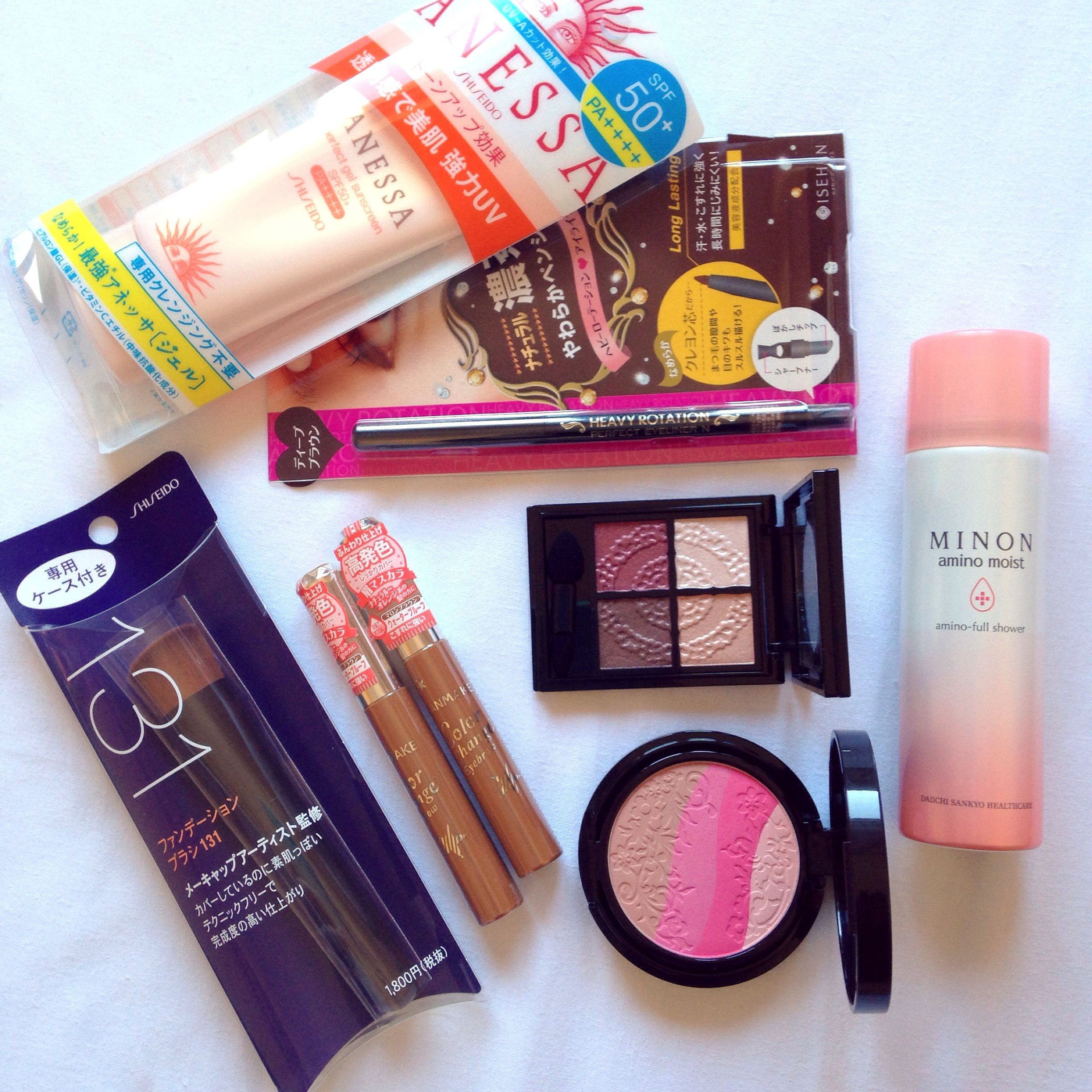 Japanese drugstore products from my first 2 days in Tokyo