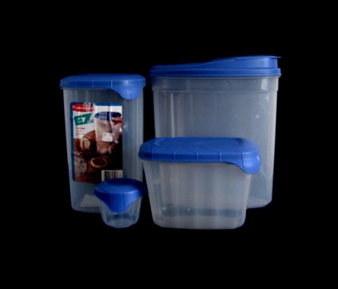 Rubbermaid Servin\' Saver Blue Lid EZ Topps Plastic Food Storage ...