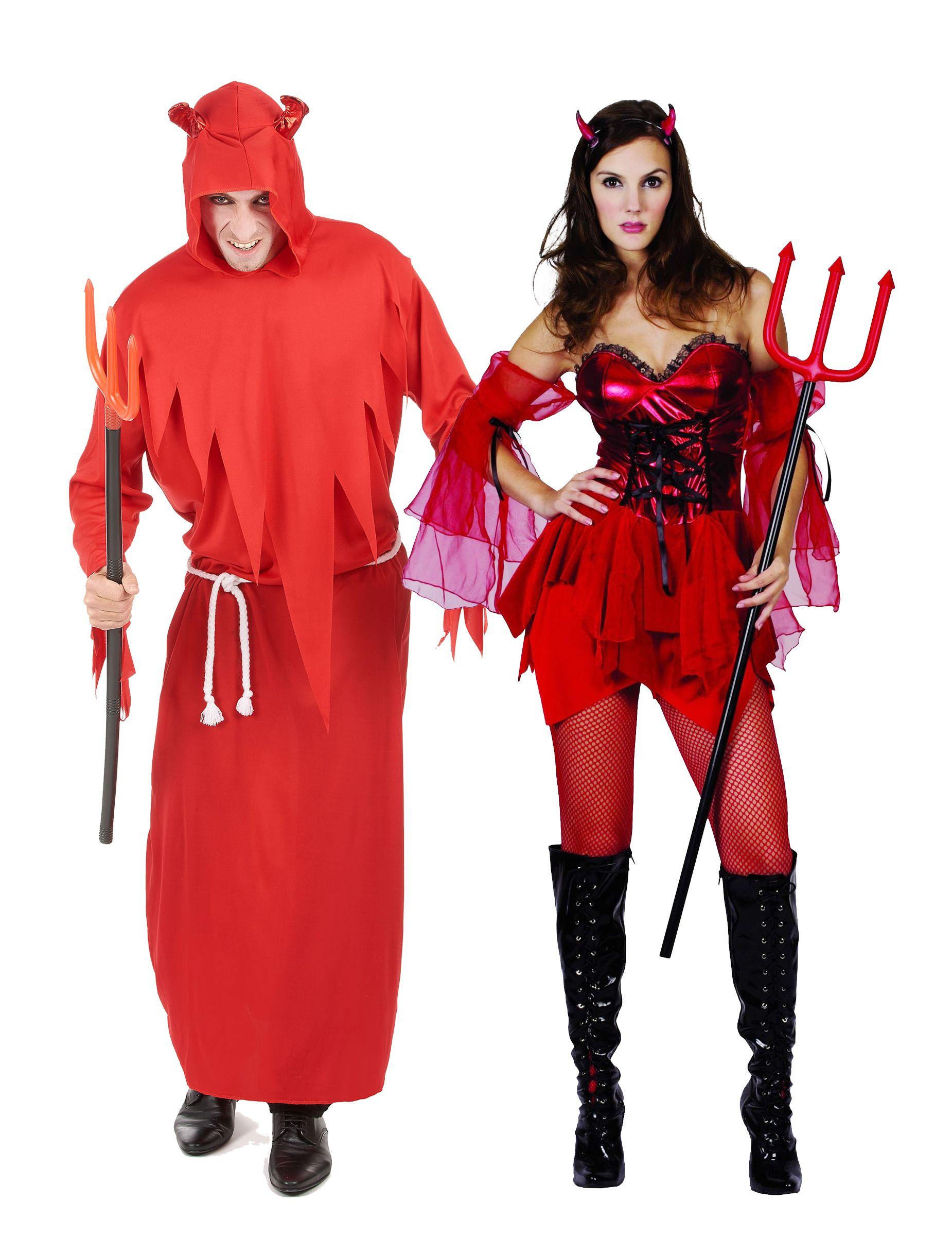 Vestiti Halloween.Costume Coppia Di Diavoli Per Halloween Nel 2019 Halloween