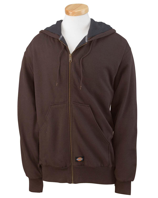 Dickies mens thermal lined fleece full zip hooded jacket tw