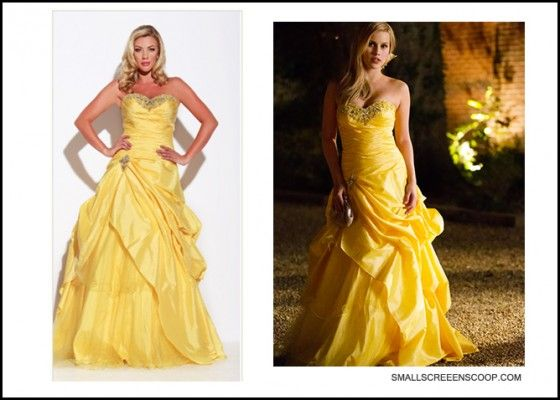 Rebekah (Claire Holt) prom dress on The Vampire Diaries - yellow ...