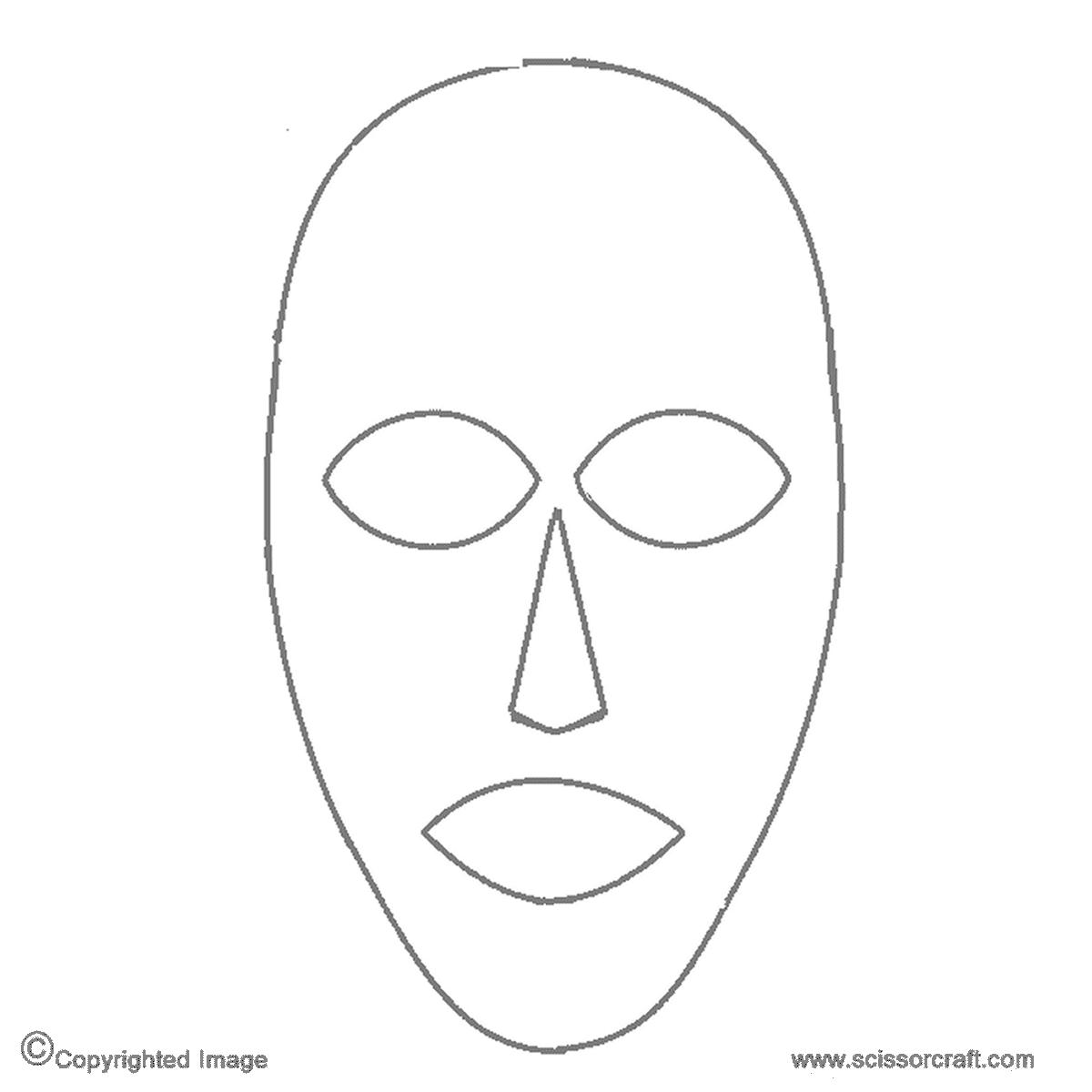 Face Mask Templates Printable Blank Mask Template Printable