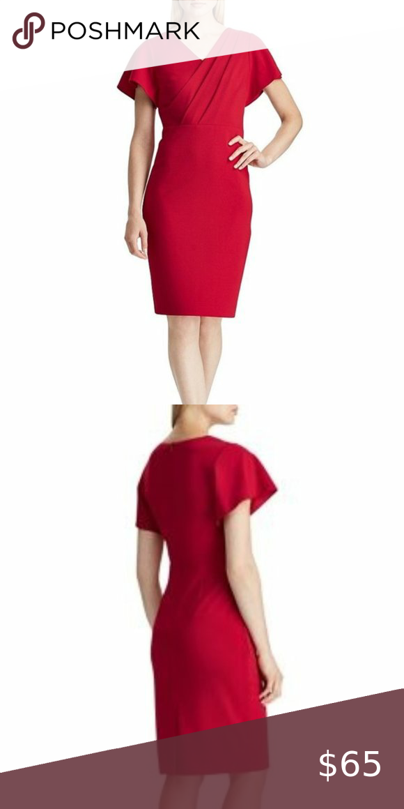 Lauren Ralph Lauren Crepe Sleeve Sheath Dress NWT