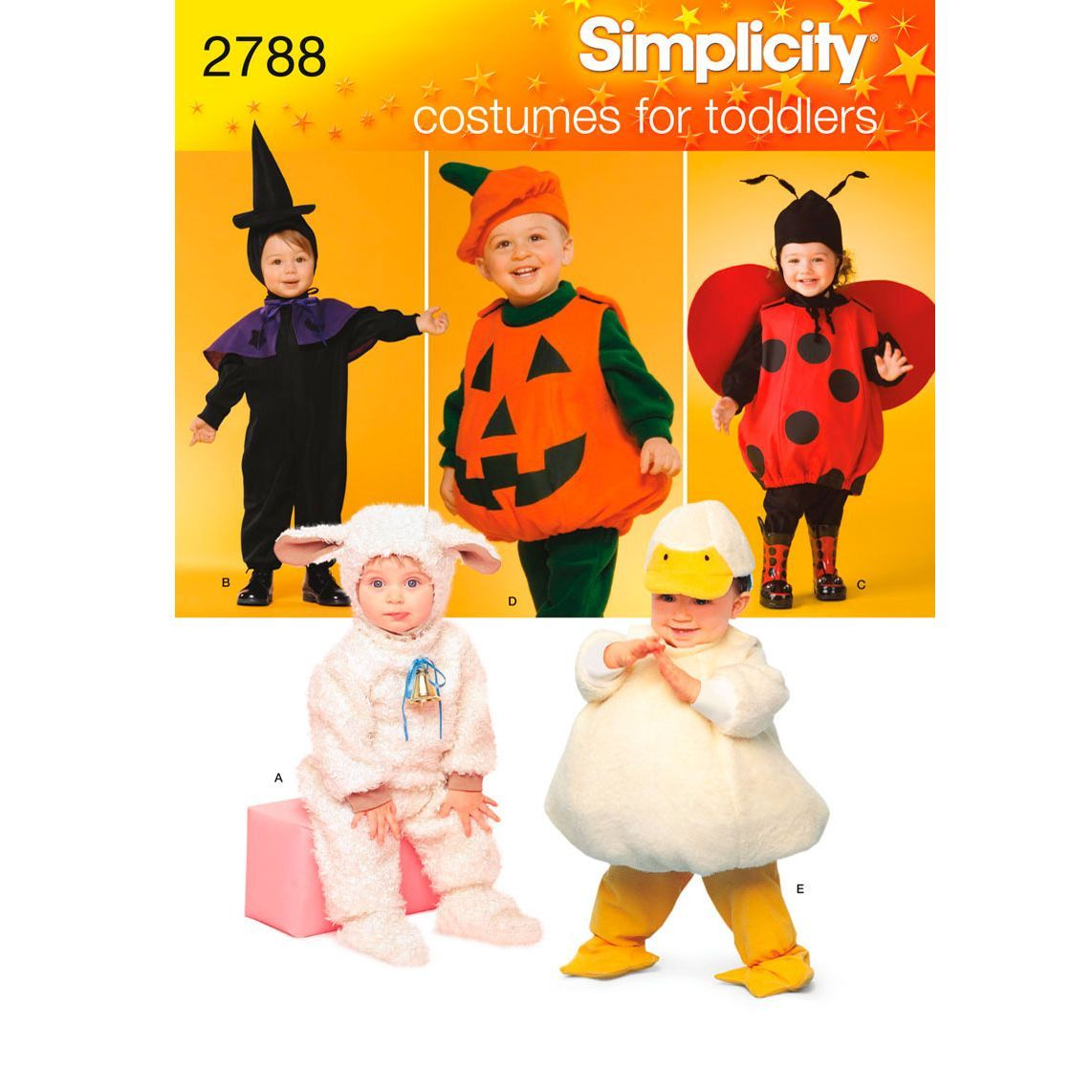 Simplicity Toddler Halloween Costume Sewing Pattern, 2788