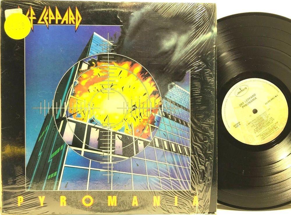 Def Leppard Pyromania In Shrink Original Mercury Lp Vinyl Record Album Vinyl Record Album Def Leppard Lp Vinyl