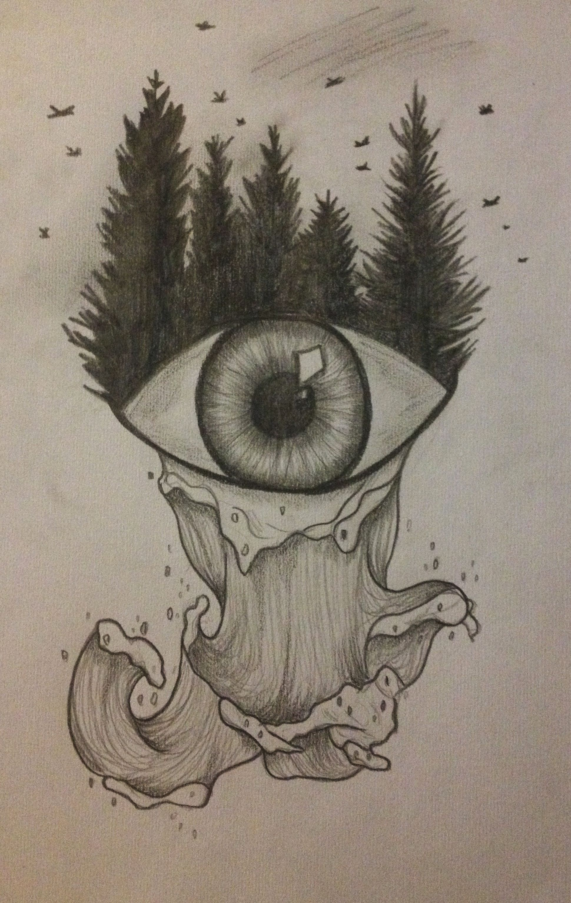 #eye #sea #forest #nature #drawing Art Ideas In 2019