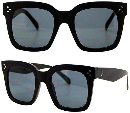 72ba4a175b773 JuicyOrange Oversized Flat Square Frame Sunglasses  http   amzn.to 2qp6w8z