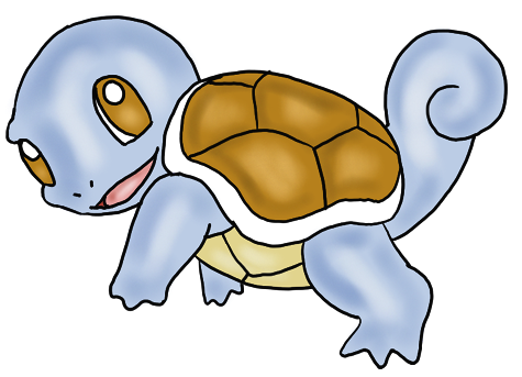 How to draw squirtle from pokemon for kids step by step drawing lesson