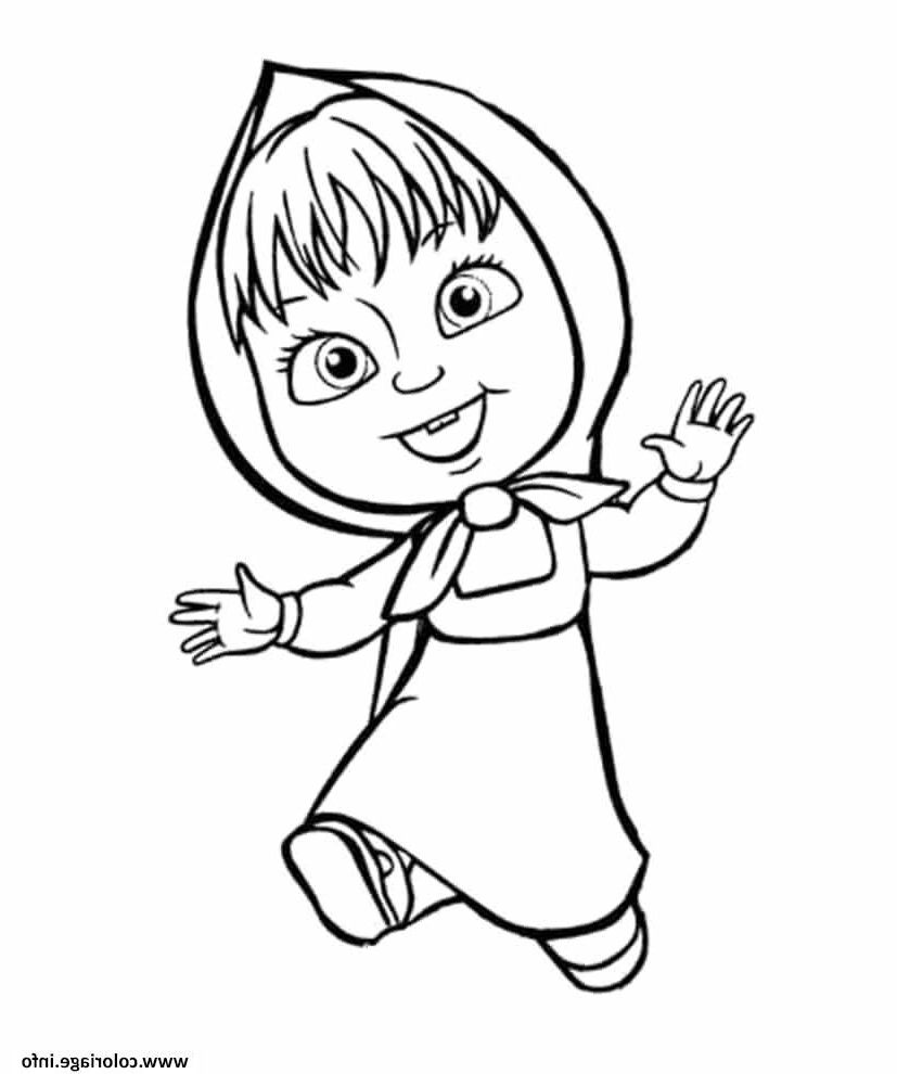 Mashaet Bear Coloring Pages Cartoon Clip Art Easy Cartoon Drawings