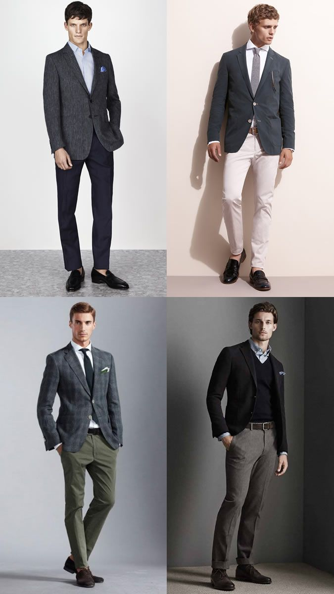 Men\'s Business-Casual Dress Code Outfit Inspiration Lookbook | Suit ...
