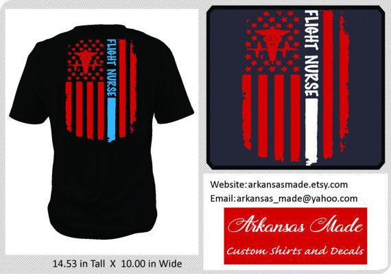 Flight Nurse distressed American flag custom nurse shirt, Design on back, APN nurse, Flight nurse, RN shirt, military nurse, to 4x