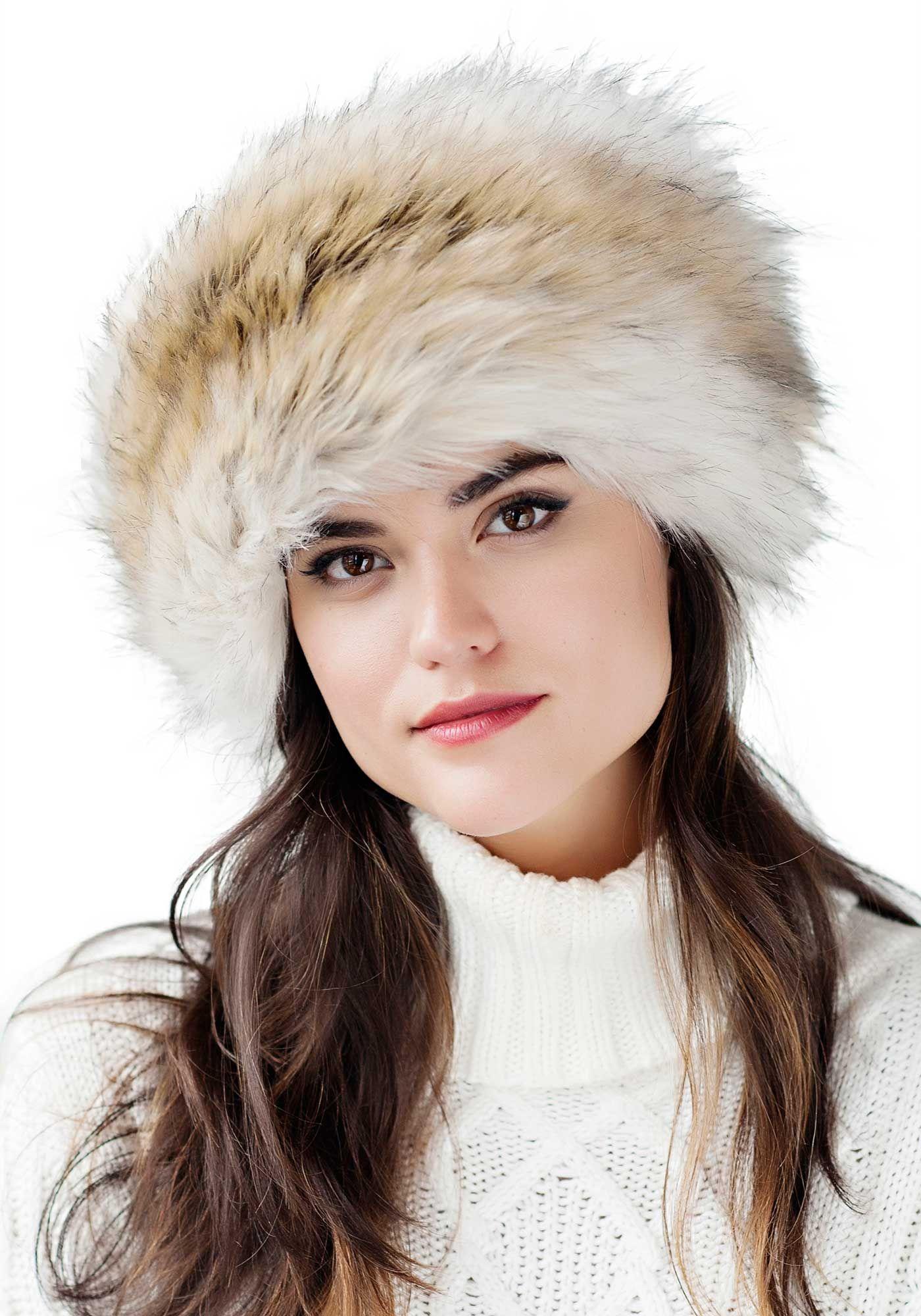 Russian Wolf Faux Fur Russian Hat  70bae0a31a9