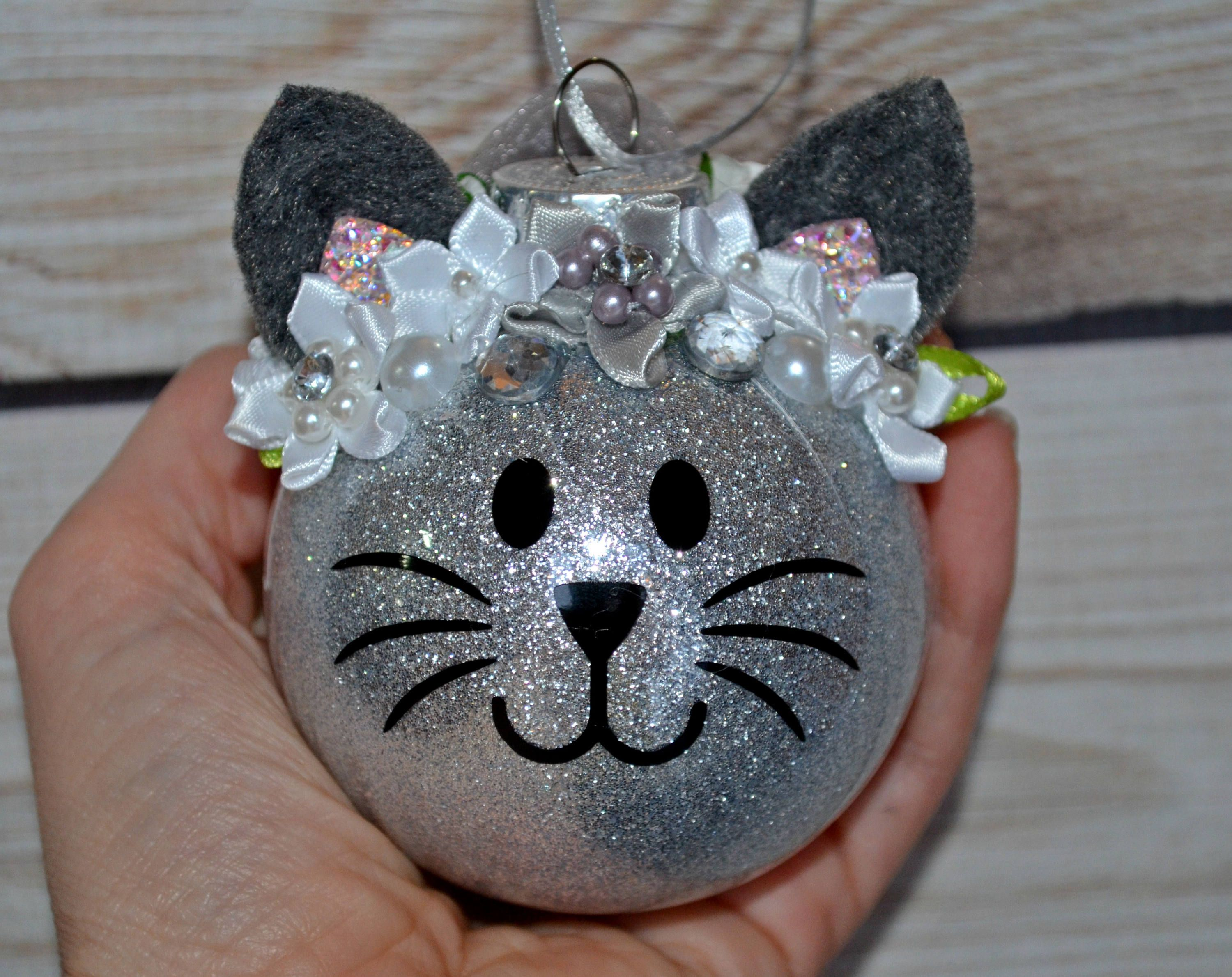 PERSONALIZED CHRISTMAS ORNAMENT PETS-CAT IN STOCKING