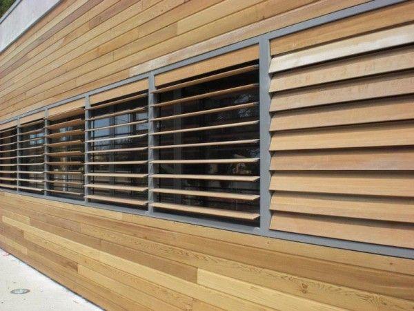 persianas de librillo de madera