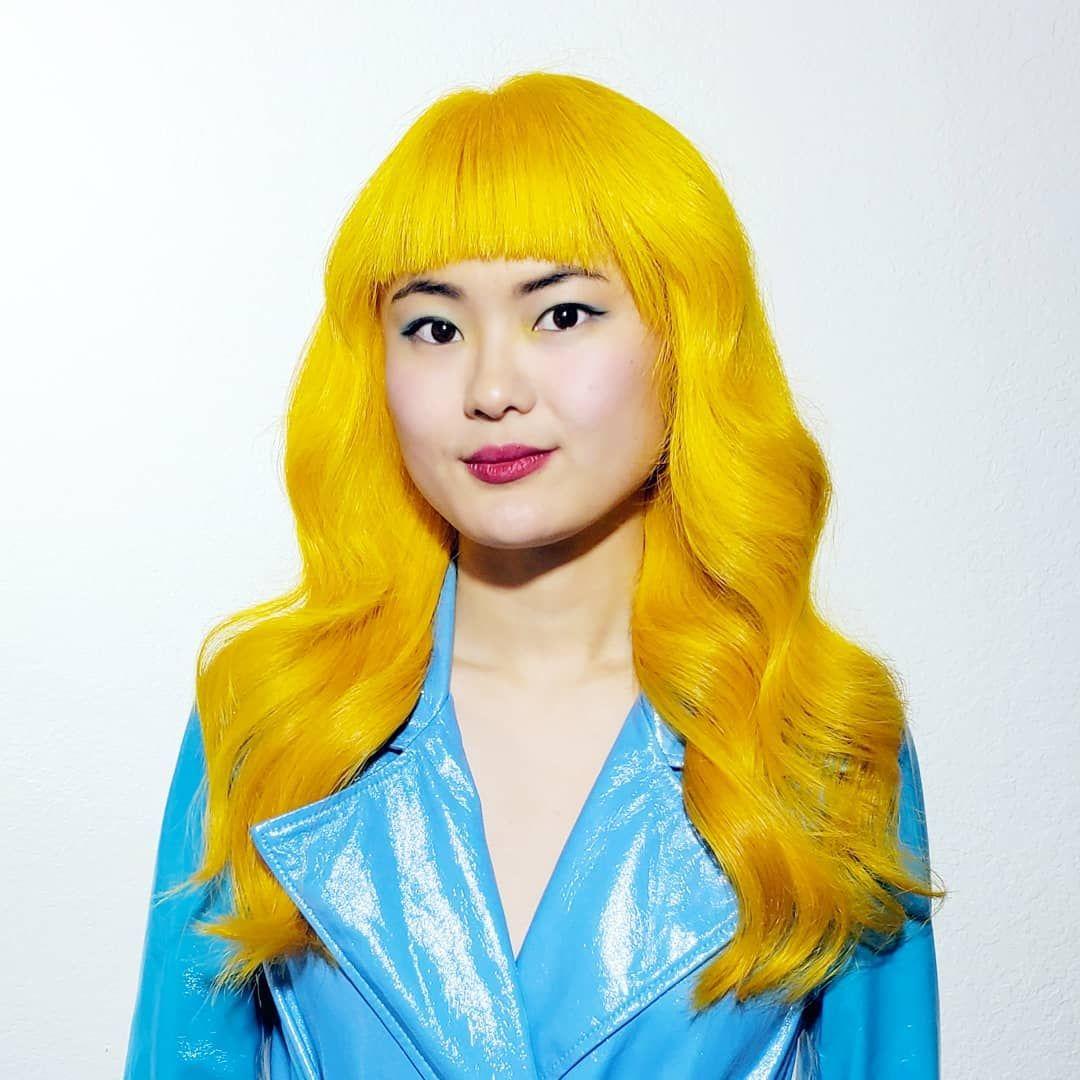Arctic fox hair color aleckzpicha canary yellow for olive