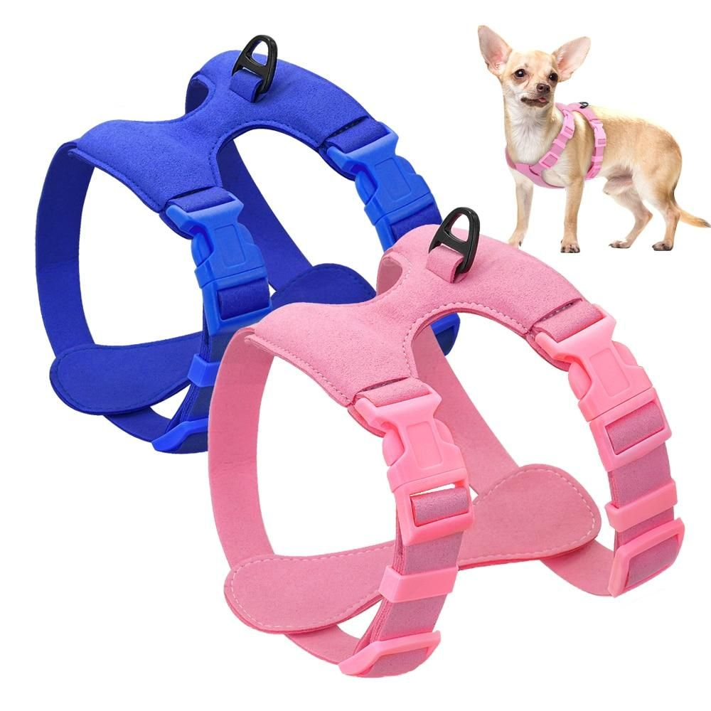Dog Harness For Small Dogs Chihuahua Yorkie Ajustable Soft Leather