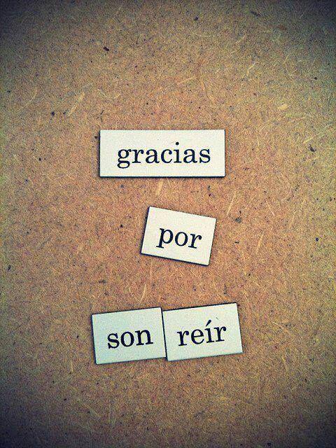 Gracias por #Sonreir... #Citas #Frases @Candidman