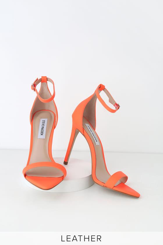 Sane Coral Nubuck Leather Ankle Strap