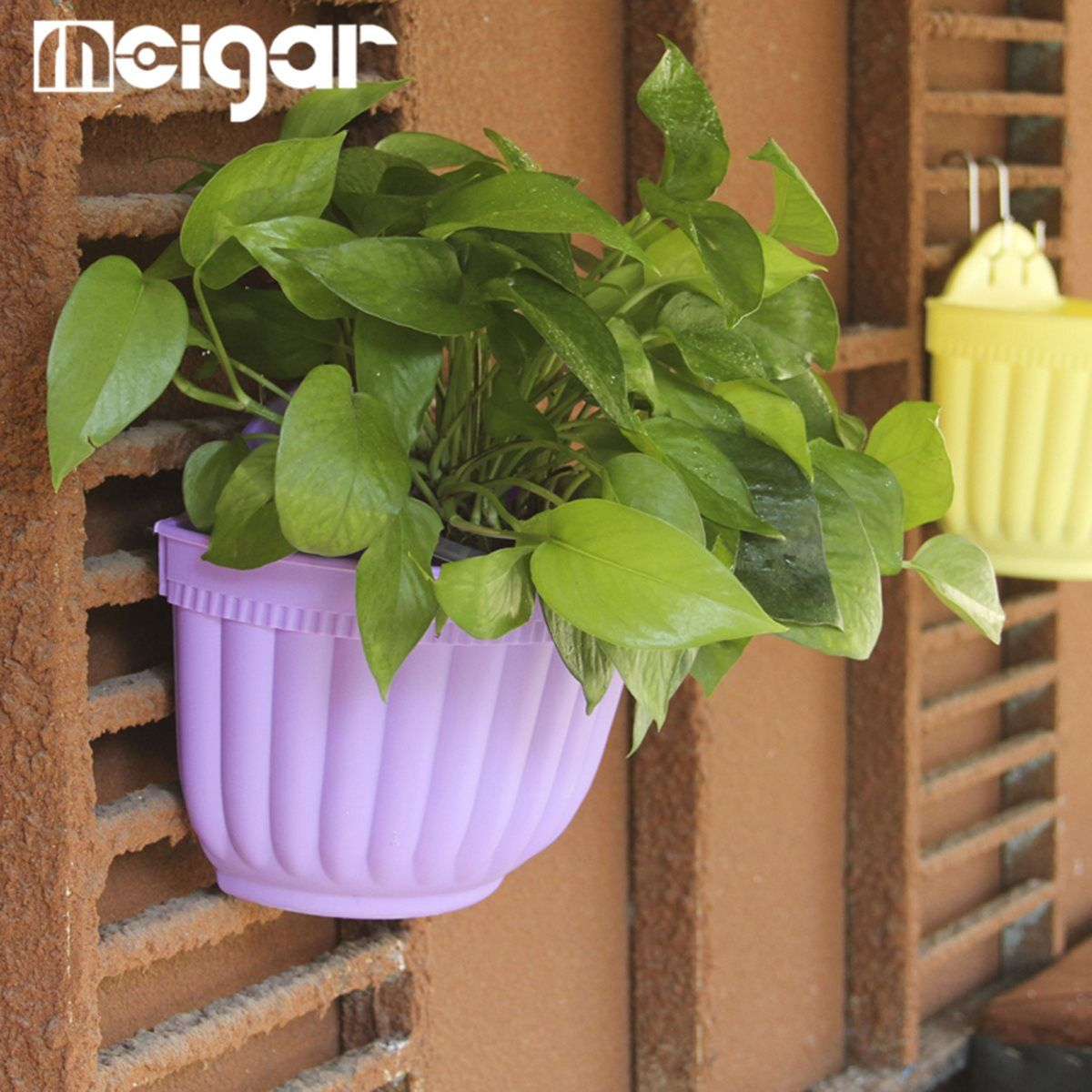 Hanging Basket Planter Flower Pots Plastic Wall Hanging Multi Colors ...