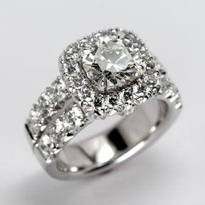 Jewelry Diamond Cushion Cut Diamond Ring from Oliver Smith