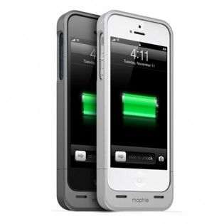 Mophie Juice Pack Helium for iPhone 5 http://www.kappsa.com/mophie-juice-pack-helium-for-iphone-5.html  Ultra-thin, 1500mAh protective battery case made for iPhone 5. Feel the difference in the palm of your hand; 13% thinner than any of our previous iPhone juice packs. It's so thin, you won't believe there's a battery inside.