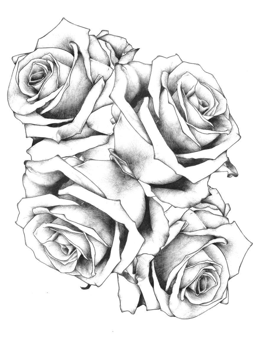 Awesome Tattoo Designs For Men Drawing Rose Flower Rose Drawing Tattoo Flower Tattoo Drawings Rose Tattoo Design