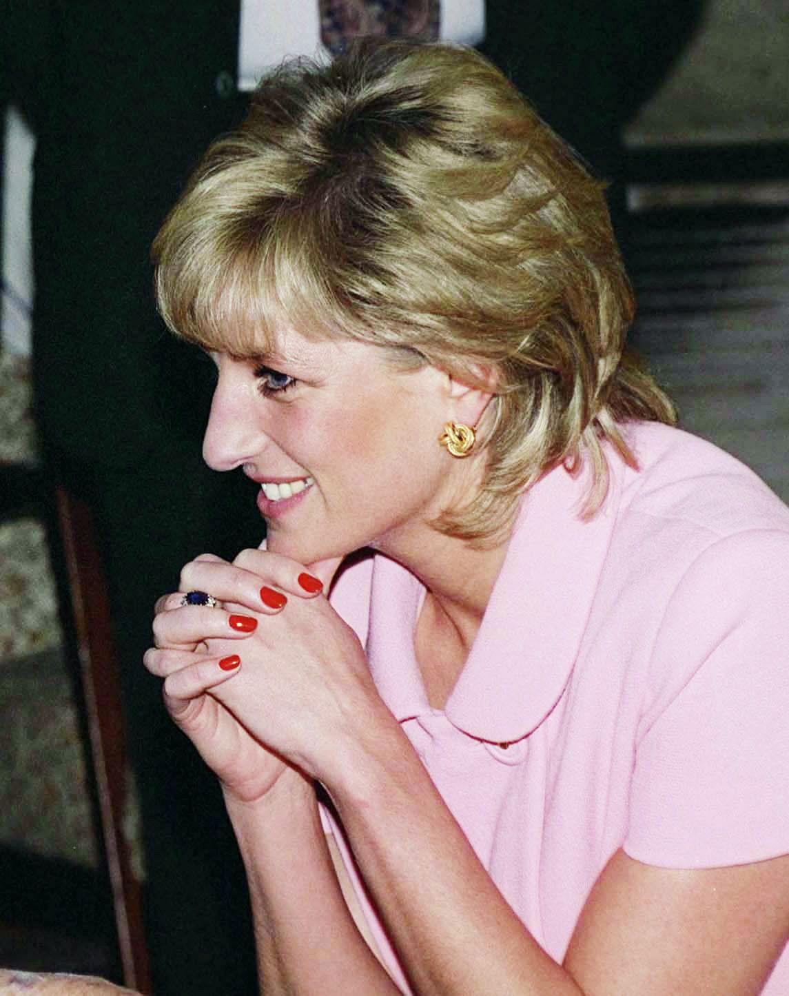 Argentina red manicure diana and princess diana