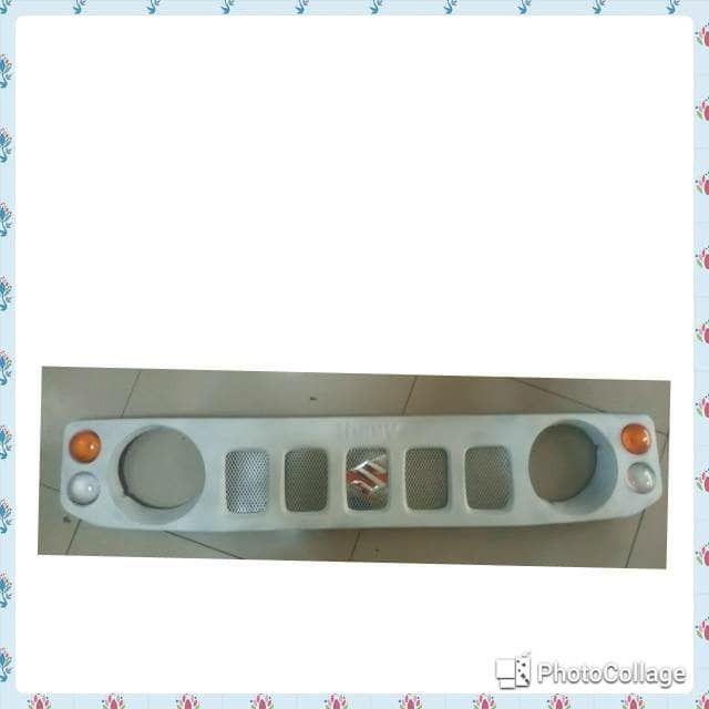 jual grill model jimny wide -bahan plat -harga sudah termasuk lampu sen dan logo s -untuk mobil jimny katana -warna model sesuai foto rill, tomato wtc 082210151782